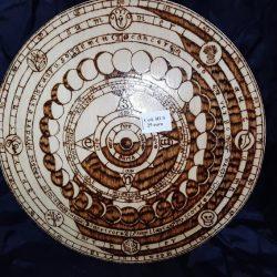 ruota dell'anno yin yang con fasi lunari