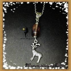 collana cervo e pietra