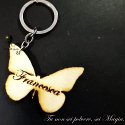 portachiavi farfalla con nome
