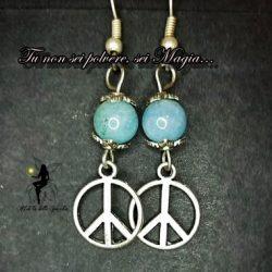 Orecchini della pace con pietra