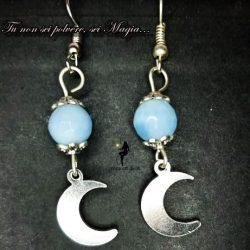 Orecchini mezze lune e pietra